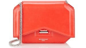 Givenchy Red Bow Cut Chain Wallet