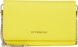 Givenchy Yellow Pandora Chain Wallet