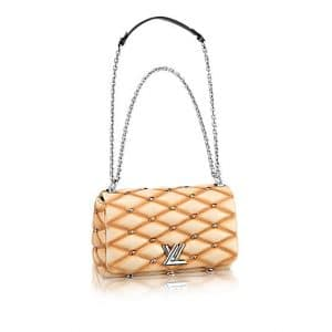 Louis Vuitton Beige Studded Malletage Go-14 PM Bag