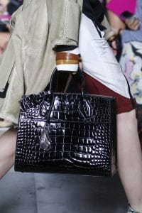 Louis Vuitton Black Crocodile Steamer Tote Bag - Spring 2016