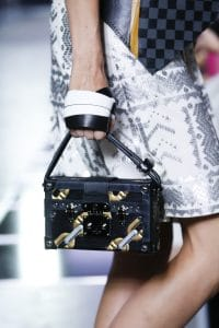 Louis Vuitton Black Epi Chain Printed Petite Malle Bag - Spring 2016