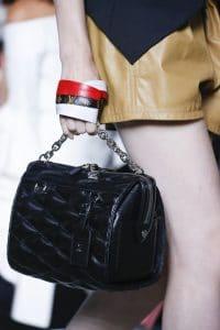 Louis Vuitton Black Malletage Top Handle Bag - Spring 2016