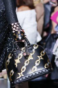 Louis Vuitton Black/Gold Chain Print Alma Bag - Spring 2016