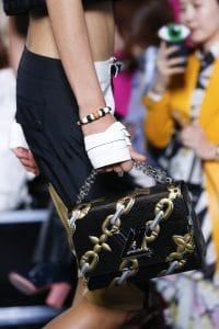 Louis Vuitton Black/Gold Epi Chain Print Twist Bag - Spring 2016