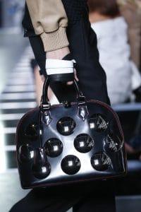 Louis Vuitton Black/Red Embellished Alma Bag - Spring 2016