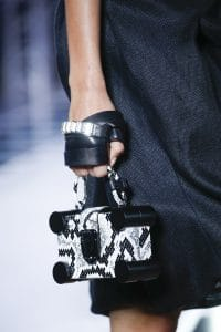 Louis Vuitton Black/White Python Nano Trunk Bag - Spring 2016