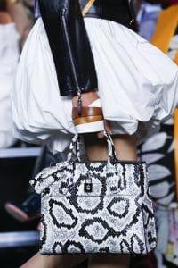 Louis Vuitton Black/White Python Steamer Tote Bag - Spring 2016