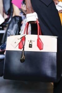 Louis Vuitton Black/White/Red Steamer Tote Bag - Spring 2016