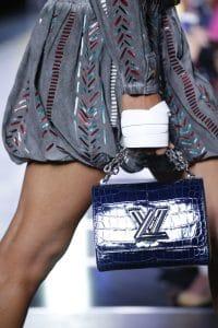 Louis Vuitton Blue Crocodile Twist Bag - Spring 2016