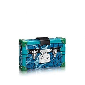 Louis Vuitton Dark Blue Aqua Print Epi Petite Malle Bag