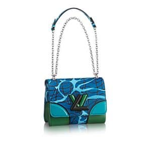 Louis Vuitton Dark Blue Aqua Print Epi Twist PM Bag