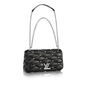 Louis Vuitton Grey Studded Malletage Go-14 PM Bag
