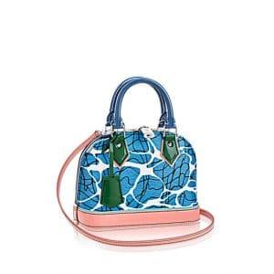 Louis Vuitton Light Blue Aqua Print Epi Alma BB Bag