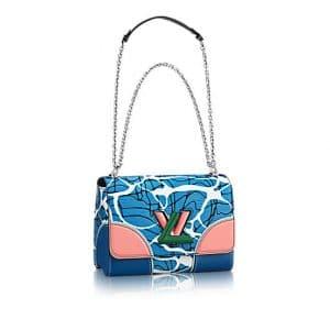 Louis Vuitton Light Blue Aqua Print Epi Twist MM Bag
