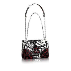Louis Vuitton Noir Blanc Palm Print Twist MM Bag