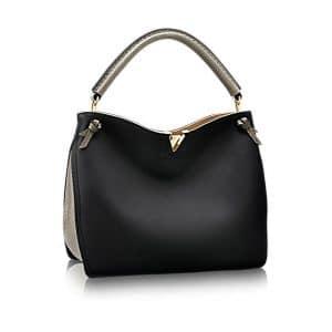 Louis Vuitton Noir Calfskin:Python Tournon Bag