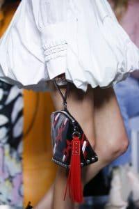 Louis Vuitton Red/Black Chain Print Clutch Bag - Spring 2016