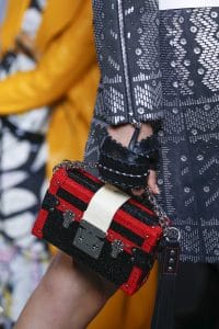 Louis Vuitton Red/Black Galuchat Petite Malle Bag - Spring 2016