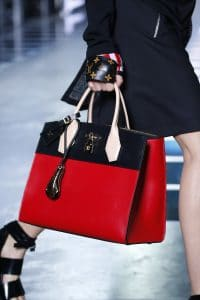 Louis Vuitton Red/Black Steamer Tote Bag - Spring 2016