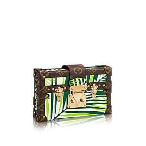 Louis Vuitton Vert Blanc Palm Print Petite Malle Bag