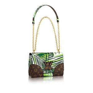 Louis Vuitton Vert Blanc Palm Print Twist MM Bag