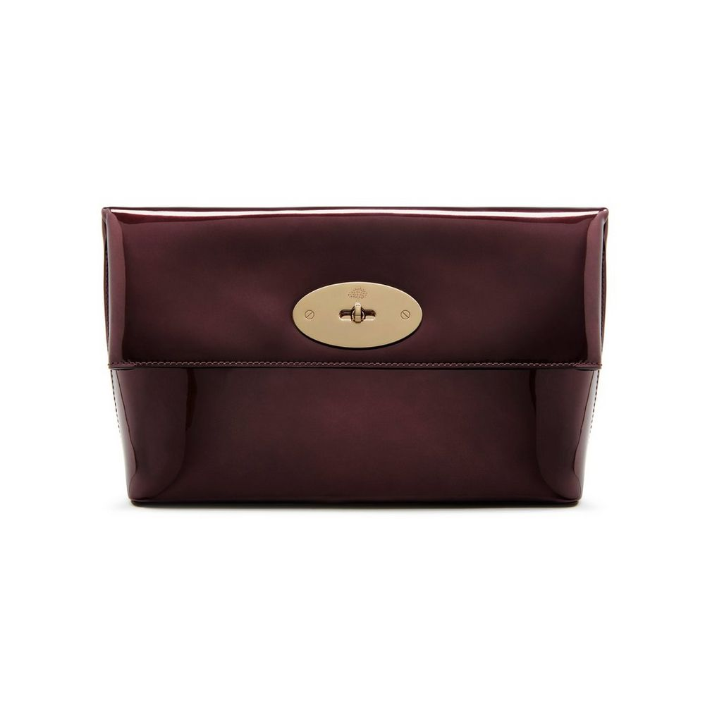7f53d1812a promo code for mulberry oxblood metallic leather clemmie clutch bag d4cdb  687cc