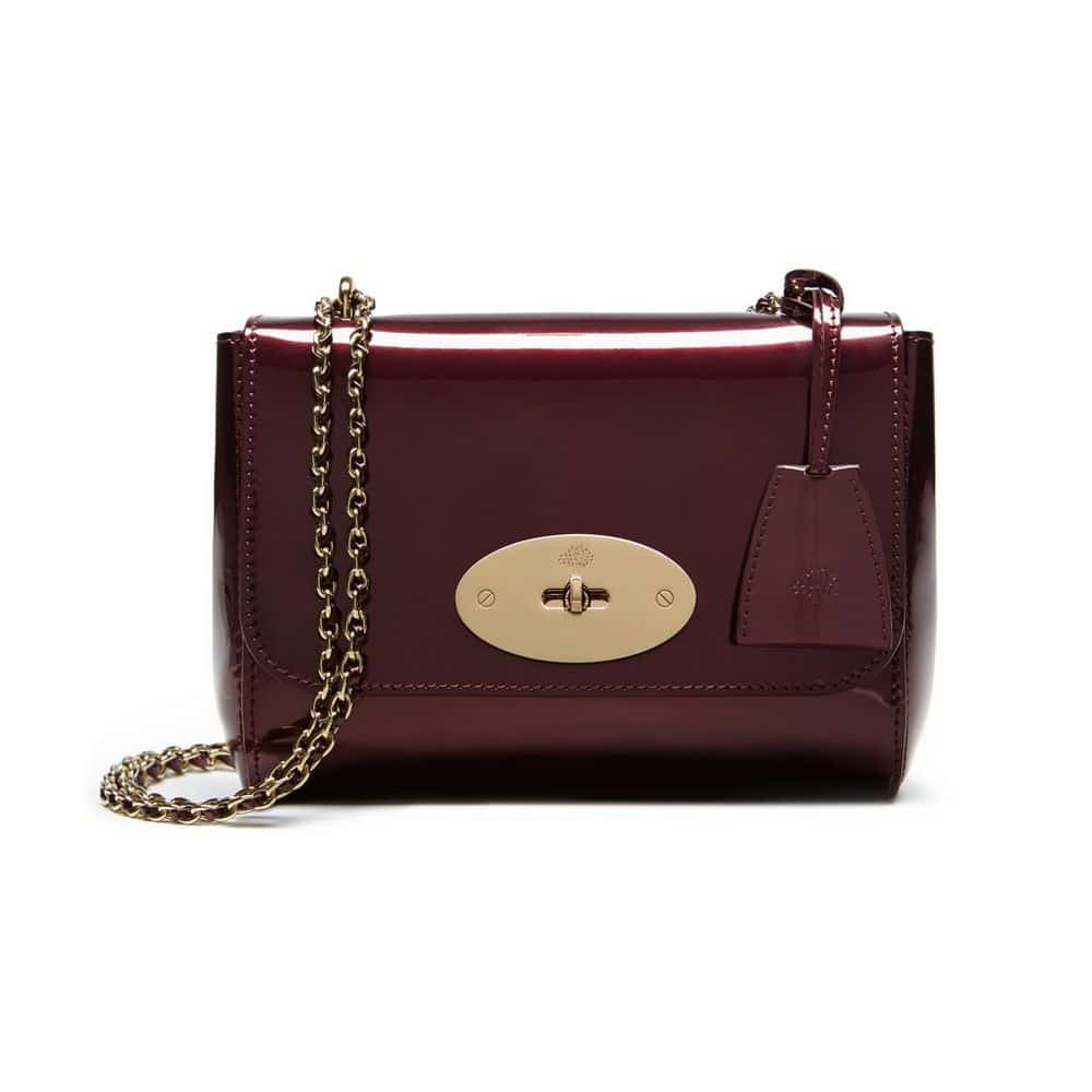 c35d95f76198 ... hedgehog maxi grain metallic bronze leather new 0af13 2552f coupon  mulberry oxblood mirror metallic leather lily bag 0fe3d bb530 ...