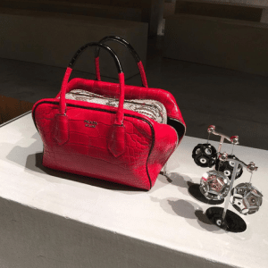 Prada Red Crocodile Inside Bag - Spring 2016