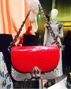 Prada Red Crocodile/Python Flap Bag - Spring 2016