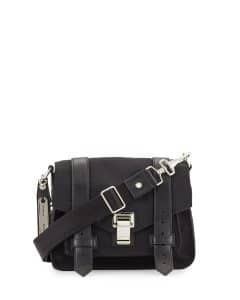 Proenza Schouler Black Nylon PS1 Small Crossbody Bag