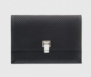 Proenza Schouler Black Perforated Small Lunch Bag