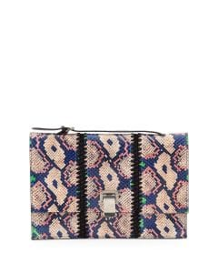 Proenza Schouler Multicolor Snakeskin Small Lunch Bag-on-a-Strap