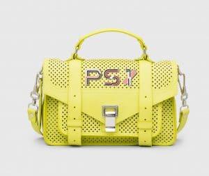 Proenza Schouler Sulphur Perforated PS1 Tiny Bag