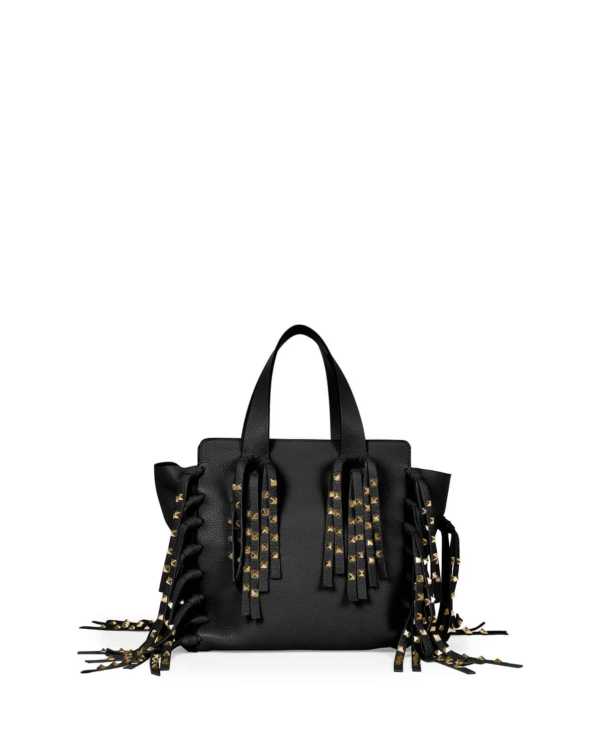 Valentino Resort 2016 Bag Collection Featuring Superheroes Spotted Shopper Tote Black Mc C Rockee Studded Fringe Micro