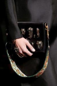 Valentino Black Embellished Flap Bag - Spring 2016