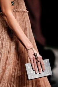 Valentino Black Printed Minaudiere Bag - Spring 2016