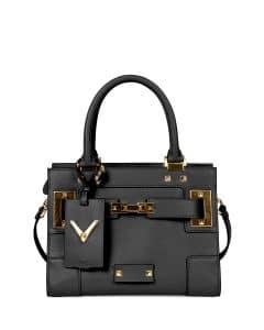 Valentino Black Valentino My Rockstud Mini Top-Handle Bag
