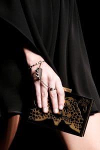 Valentino Black/Gold Tiger Print Minaudiere Bag - Spring 2016
