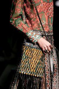 Valentino Black/Multicolor Net Shoulder Bag - Spring 2016