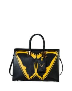 Valentino Black/Yellow Superhero Batman Tote Bag