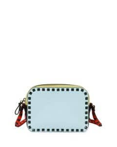 Valentino Blue/Yellow/Orange/Green Four-Color Camera Crossbody Bag