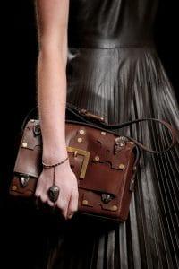 Valentino Brown Embellished Flap Bag 2 - Spring 2016