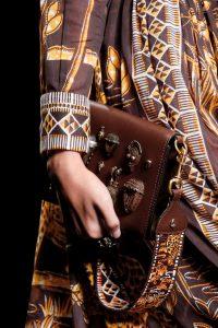 Valentino Brown Embellished Flap Bag - Spring 2016