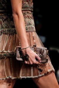 Valentino Brown Embellished Mini Flap Bag - Spring 2016