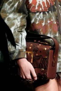 Valentino Brown Embroidered Flap Bag - Spring 2016