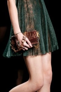 Valentino Brown Embroidered Mini Flap Bag - Spring 2016