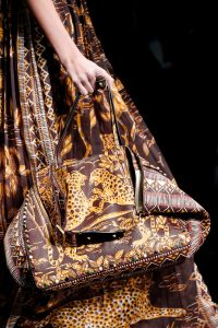 Valentino Burgundy Cheetah Print Rockstud Tote Bag - Spring 2016