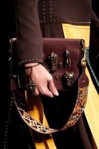 Valentino Burgundy Embellished Flap Bag - Spring 2016