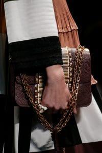 Valentino Burgundy Hand-Painted Lock Flap Bag - Spring 2016