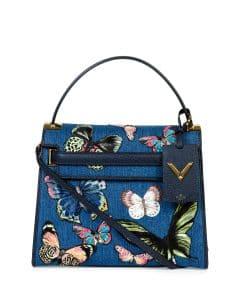 Valentino Denim Butterfly My Rockstud Bag